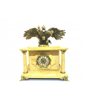 Часы-сейф из мрамора с двуглавым  орлом