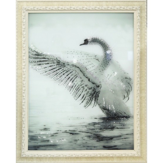 Белый лебедь Swarovski