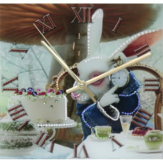 """Часы """"Время пить чай"""" Swarovski"""