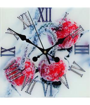 """Часы """"Зимняя вишня"""" Swarovski"""