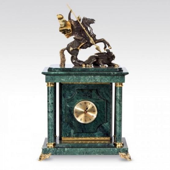 Часы-сейф Георгий - Победоносец (Мрамор)