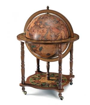 Глобус-бар напольный, сфера